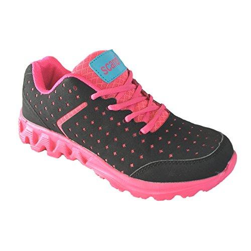 Scandi- Damen Sportschuhe Sneaker Freizeit - Schuhe - Größe 36-41 Neu Pink