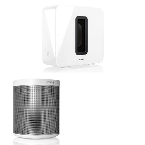 Sonos 2.1 Home Theater System PLAY:1 and SUB Combination (White)