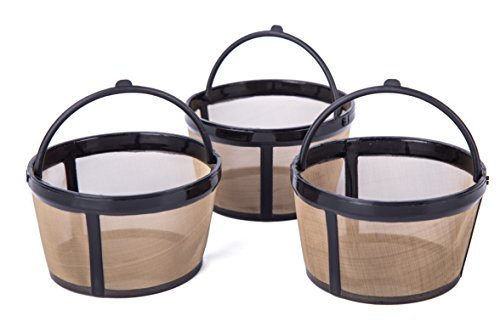 Tebery Permanent Basket-Style Gold Tone Coffee Filter fits M