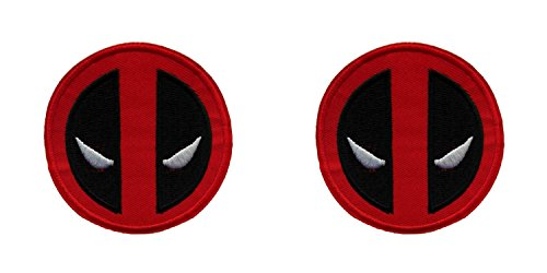 "(2- Pack) Marvel Comics Dead-Pool Logo Iron/Sew-On Embroidered 3"" Patch"