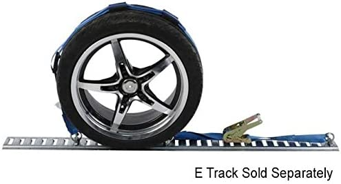 Amazon Com Us Cargo Control Wheel Strap With E Track Fittings And Three Rubber Blocks Great For Low Car Hauling Strong Polyester Webbing 2 000 Pound Working Load Limit Automotive