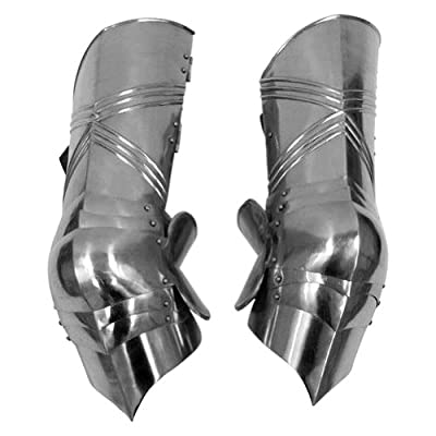 Armor Venue - Gothic Leg Guard Armor Set - Metallic - One Size