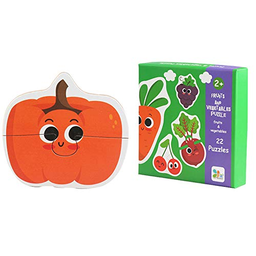 Kids Baby Wooden Wood Animal Cognition Puzzle Fruit Learning Educational Toy by OVERMAL Toy