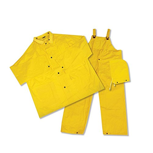 ERB 14911 4025 3 Piece Rainsuit, Yellow, Large