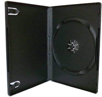 100 negro cajas individuales para DVD - 14 mm - por Dragon Trading: Amazon.es: Oficina y papelería