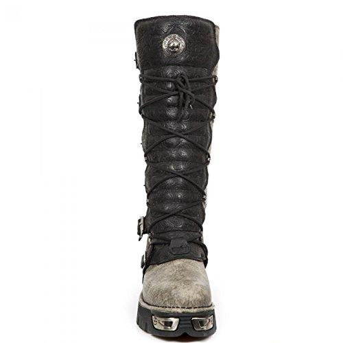 Nuovi Stivali Di Roccia M.272-cz02 Gotico Hardrock Punk Stiefel Unisex Schwarz