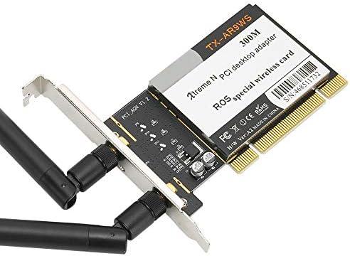 2 Antennas AR9223 Kafuty-1 WiFi Card Adapter for PC Wireless WiFi Network Card PCI Desktop Adapter 300Mbps 802.11b//g//n
