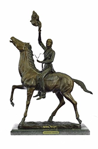 - Handmade European Bronze Sculpture OLD WEST Indians WESTERN ART FREDERIC REMINGTON FIGURINE ART Bronze Statue -1X-57822-Decor Collectible Gift