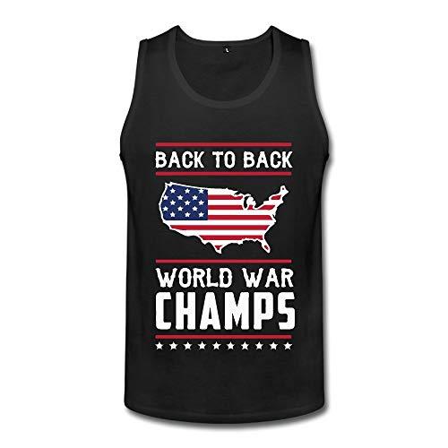 Back-to-Back World War Champs Men's Sleeveless Corset Vest Jersey Tank
