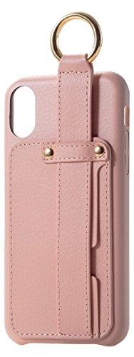 イベントコロニー静かにエレコム iPhone X ケース カバー レザー 落下防止ベルト付き for Girl ピンク PM-A17XPLOB1PN