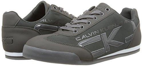 Calvin graphite Matte Klein Basse grey Cale Uomo Grigio Sneaker paten Smooth OqZxOwvrF
