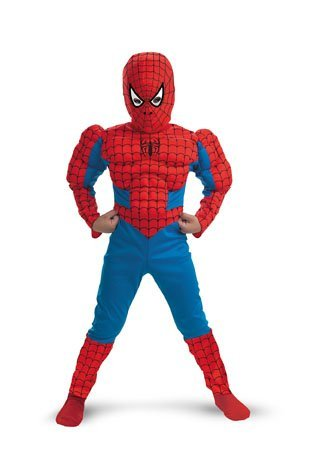 Spiderman Muscle - Size: Child M(7-8) (Spiderman Costume Movie)