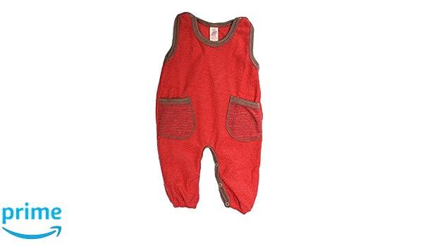 Engel Axil - Baby pelele sin soporte lana (kbt) ángel natural 2 colores talla 50/56 - 74/80 rojo hibisco 50/56: Amazon.es: Bebé