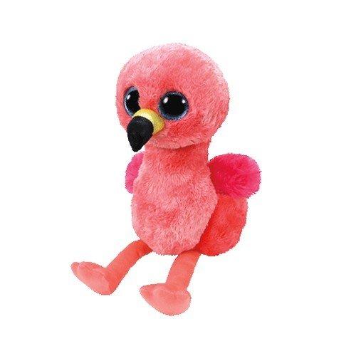 TY 36848 Gilda, Flamingo mit Glitzeraugen, Glubschi's, Beanie Boo's, Plüsch, 15 cm Glubschi' s Beanie Boo' s Plüsch Spielen / Raten