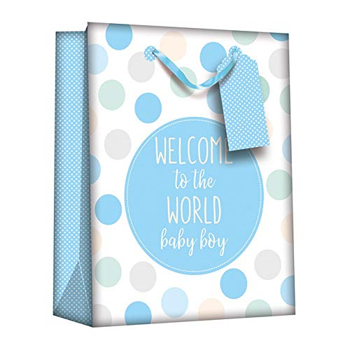 Iparty Baby Shower Gift Bags (Pack Of 6) (One Size) (Baby Boy)
