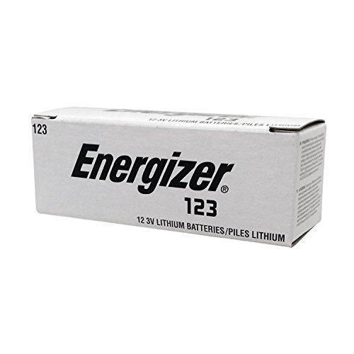 : Energizer EL 1230P12 Photo Lithium 123, 3V Battery, 12-Pack (Silver/Black)