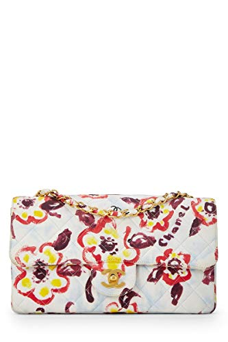 CHANEL Multicolor Floral Cotton Classic Flap Medium (Pre-Owned)