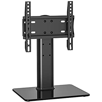 fitueyes universal tv stand base swivel tabletop tv stand with mount for 32 inch to. Black Bedroom Furniture Sets. Home Design Ideas
