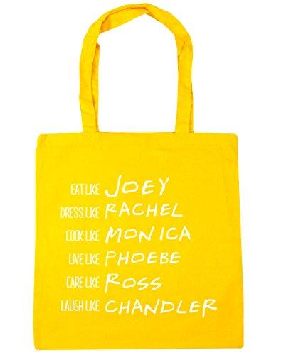 HippoWarehouse ser como Phoebe Rachel Monica Joey Chandler Ross Tote Compras Bolsa de playa 42cm x38cm, 10litros amarillo