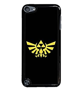 2015 CustomizedYellow Zelda Iforce Black Hardshell Case for iPod Touch 5G iTouch 5th Generation