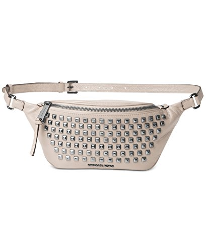 MICHAEL Michael Kors Rhea Zip PYR Stud Belt Bag,Cement by Michael Kors