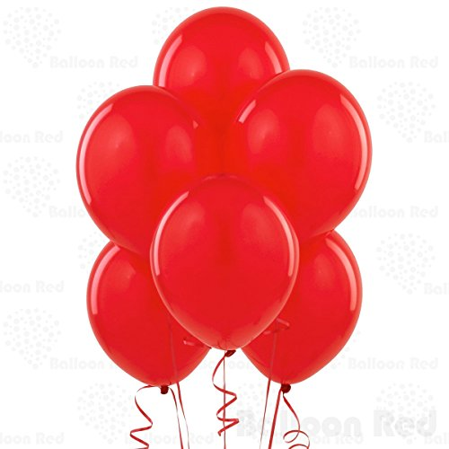 12 Inch Latex Balloons (Premium Helium Quality), Pack of 24, Red