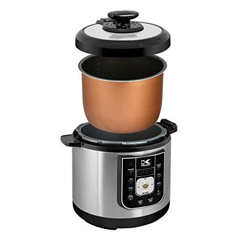 Kalorik EPCK 42941 BK Perfect Sear Pressure Cooker, Black, Stainless Steel