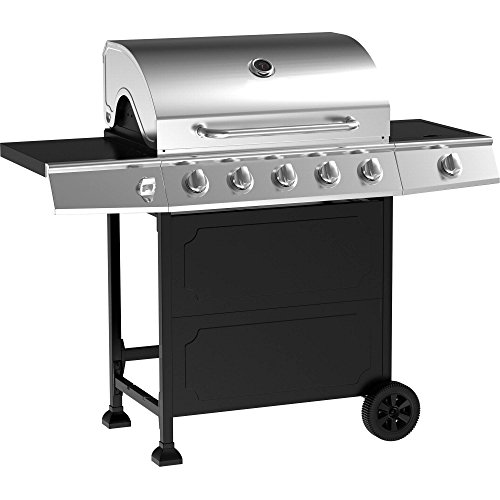 5-Burner Stainless Steel Gas Barbeque Grill Primary Cooking Area: 491 Sq In Secondary Cooking Area: 186 Sq In