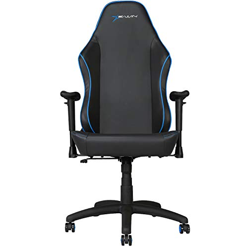 E-WIN Gaming Office Chair with Wide Seat Ergonomic High Back Racing Style   Multi Functions Adjustable Computer Chair (Knight Series Blue)