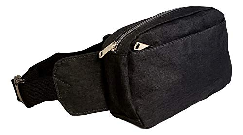 Personalized Heather Gray Black Fanny Pack Waist Bag (Heather Charcoal- No Embroidery)]()