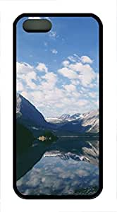 iPhone 5 5S Case landscapes nature lake mountain 26 TPU Custom iPhone 5 5S Case Cover Black