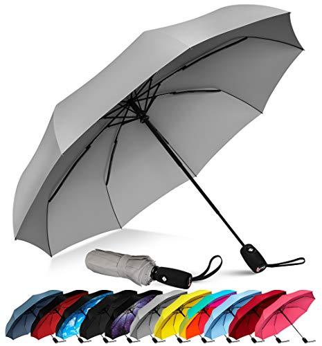 - Repel Windproof Travel Umbrella with Teflon Coating (Gray)