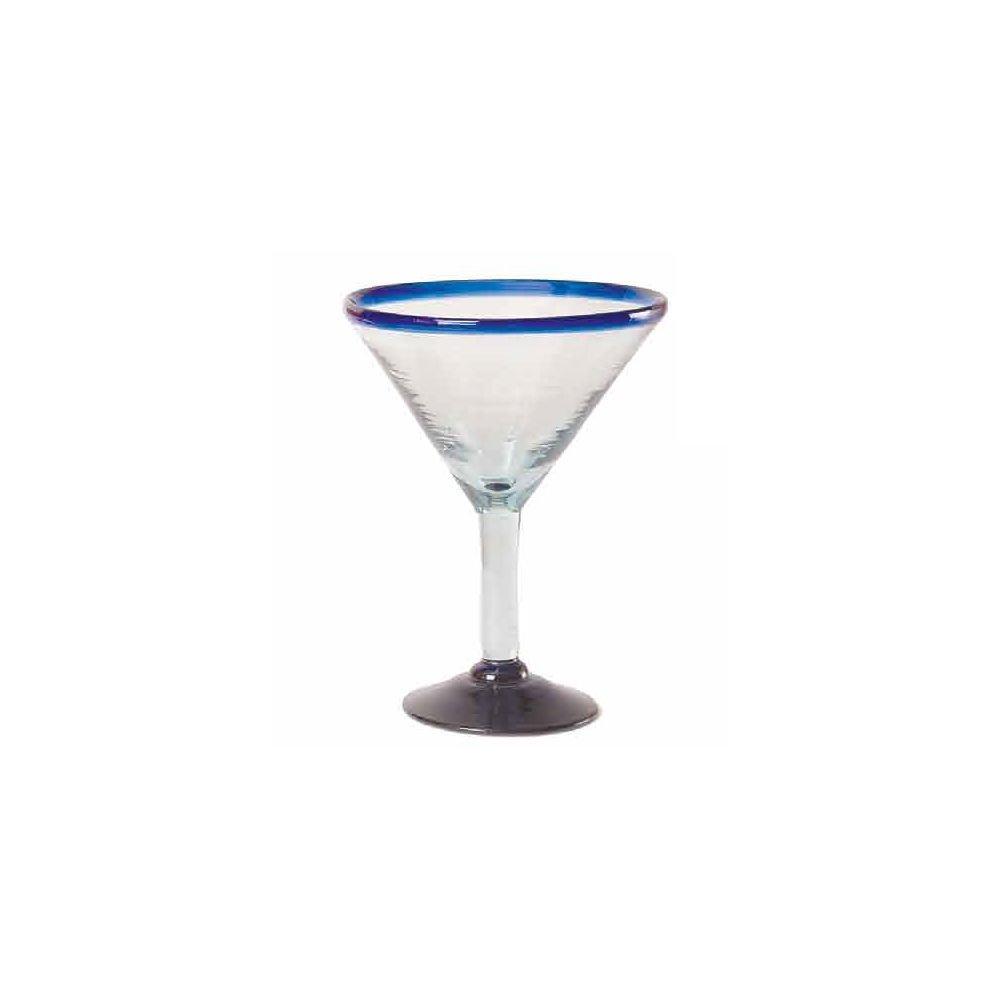Orion Trading G266-CR 15 Oz. Cobalt Rim Margarita Glass - 6 / CS