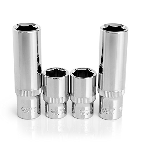 10mm Socket Four Pack (1/4 Drive, 6pt, Shallow and Deep)