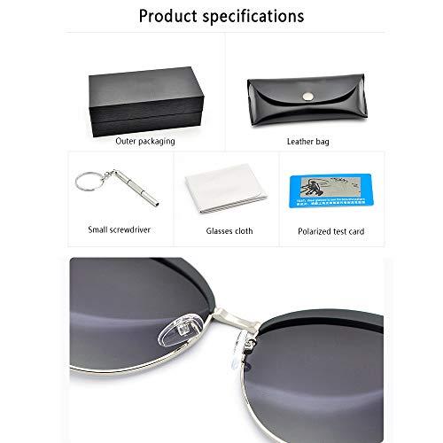 De Señoras Gafas De Ocasionales Sol Anti Gafas Sol De del Completo del Compras Silver Las Polarizadas Silver De UV400 Protección Marco Ojo De La 6YY4zrwq