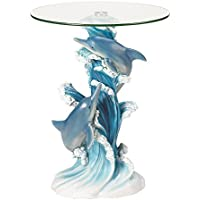 Koehler SS-KHD-38425 24 Playful Dolphins Accent Table
