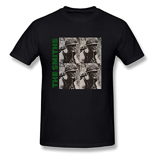 Hsuail Men's The Smiths Meat Is Murder T-Shirt Black US Size - Tory Tennis Burch