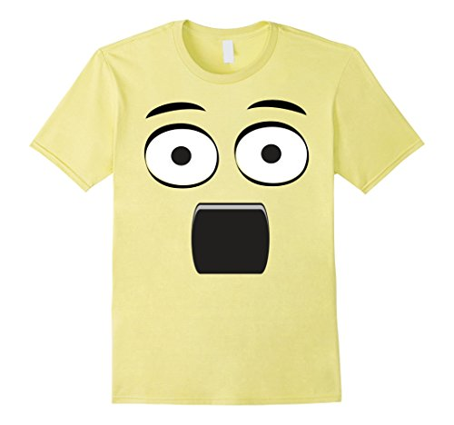 Men's Emoji T-Shirt Surprised Face
