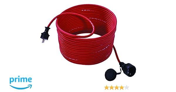 Bachmann 343.373 - Cable alargador para cortacésped (15 m, con ...