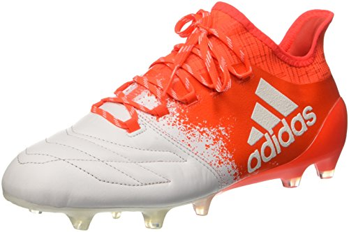 adidas X 16.1 Fg Leather W, Botas de Fútbol para Hombre Blanco (Ftwbla / Ftwbla / Rojsol)
