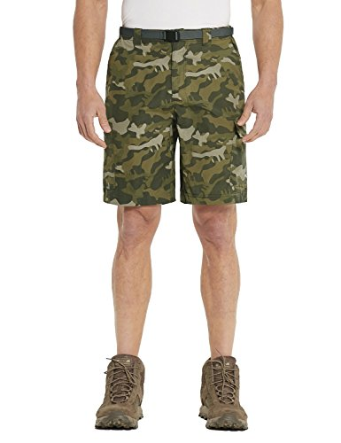 - BALEAF Men's Quick Dry UPF 50+ Performance Hiker Shorts Green Camo 40W