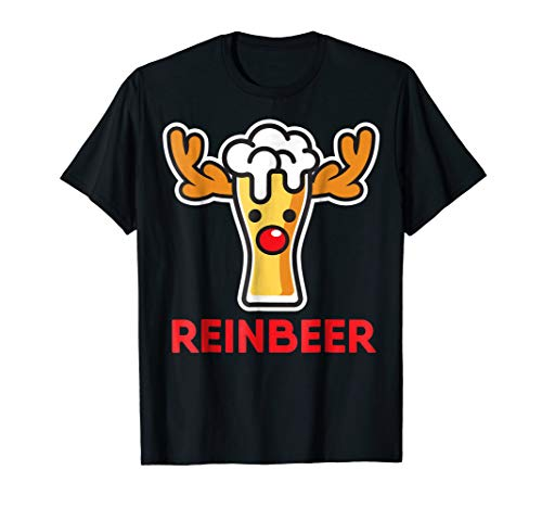 Rein-Beer Reindeer Funny Ugly Christmas Shirt Drinking Gift