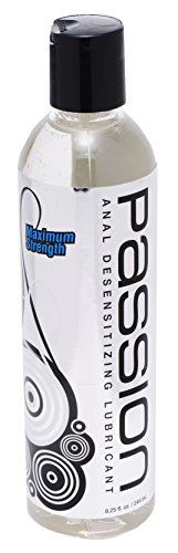 Passion Lubes Maximum Strength Anal Desensitizing Lube, 8.25 fl oz