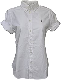 Polo Ralph Lauren Womens Short Sleeve Oxford Button Down Shirt