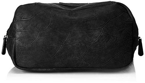 Fritzi aus Preußen Damen Feline Schultertasche, 13x22x33 cm Schwarz (Black)