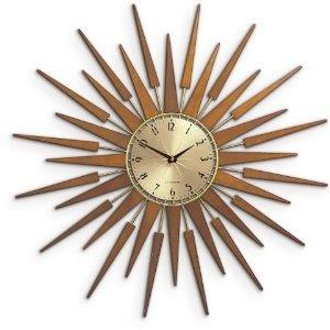 Phenomenal Newgate 60S Pluto Starburst Wall Clock Amazon Co Uk Home Interior And Landscaping Synyenasavecom