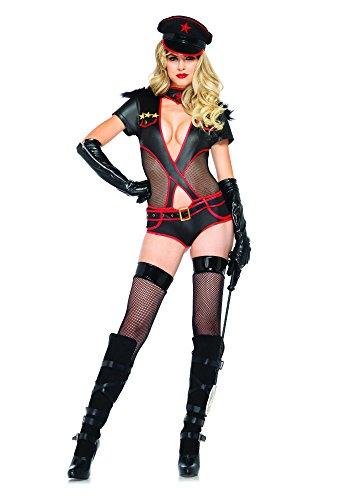 [Leg Avenue Women's 3 Piece Rear Admiral Military Costume, Black, Medium] (Rear Admiral Costume)