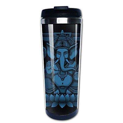 Boomy Custom Lord Ganesh Blue Halftone Stainless Steel Coffee Mug For Indoor & Outdoor Office School Gym Use