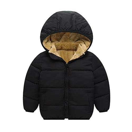 TOURME Kids Winter Jacket Fleece Lined Snow Down Coat for Toddler Boys Girls