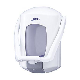 Jofel AC75000 Aitana Dosificador de Jabón Rellenable, Pulsador de Codo, 0.9 L, Blanco: Amazon.es: Industria, empresas y ciencia